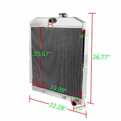 FOR 1948-1954 CHEVY TRUCK PICKUP AT 1949 1950 1951 1952 1953 ALUMINUM RADIATOR