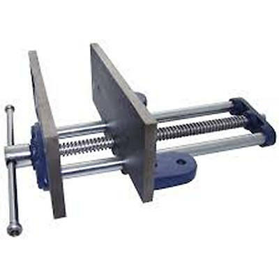 """8"""" Wood Working Vice Cast Iron Body Chrome Plated Steel"""
