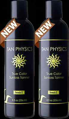 Lot of 2 Tan Physics True Color Sunless Self Tanner Tanning Lotion FRESH STOCK!!