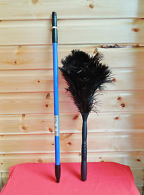 "Wholesale 50 100 Extendable Ostrich feather dusters 50""-70""Professional cleaning"