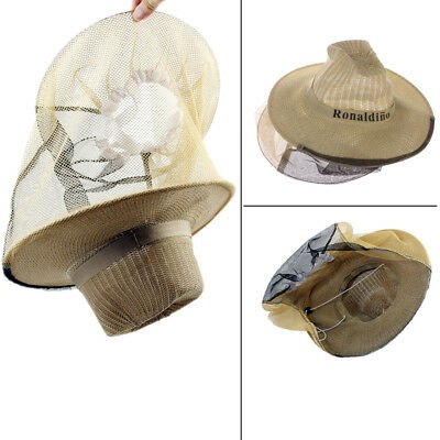 Beekeeping Garden Guard Cowboy Hat Anti Mosquito Bee Insect Bug Face Head Veil