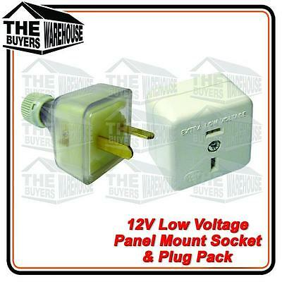 12 volt PowerSocket Extention T Plug Caravan Boat Marine 4WD Low voltage 2 pin,