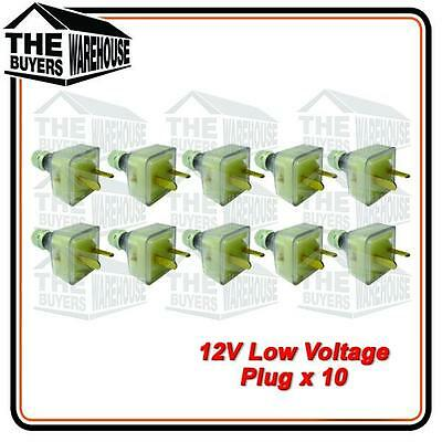 12V Power Extention T Plug Caravan Boat Marine 4WD Low voltage 2 pin .