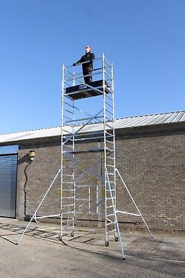 eTrade King ONE Foldable Up to 7M, Adjustable Wheels Aluminium Scaffold Tower