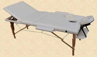 Portable Massage Table Reiki Couch 3-Section Cream