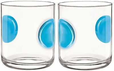 2 x Bormioli Rocco Giove Water Tumbler Glasses - Sky Blue - 310ml
