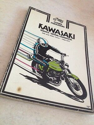 Clymer Kawasaki 250 350 twins 66 to 71 service repair handbook workshop manual
