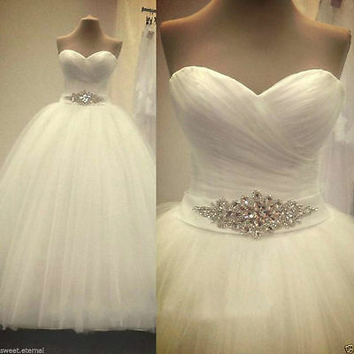 New White Ivory Wedding Bridal dress Formal Ball Gown Custom Size6 8 10 12 14 16