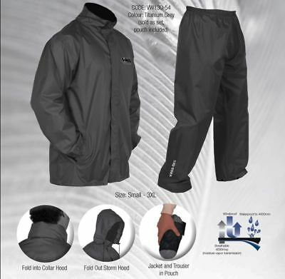 VASS Lightweight Fishing Waterproof Jacket And Trouser Packaway Set *All Sizes*