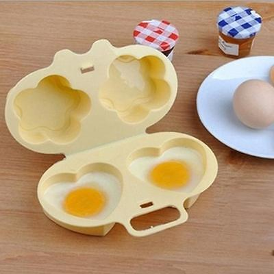 Microwave Poach Egg Poacher Cooking Cooker Plastic Kitchen Gadget Cute Tool - 6A