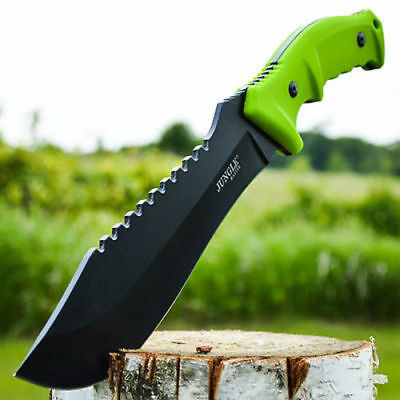 """15"""" RAMBO TACTICAL Combat Survival FIXED BLADE KNIFE Machete Bowie w/ SHEATH"""