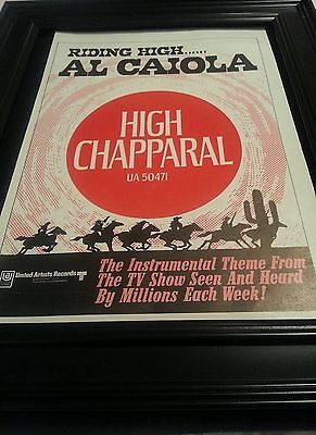 The High Chapparal Rare Original Promo Poster Ad Framed!