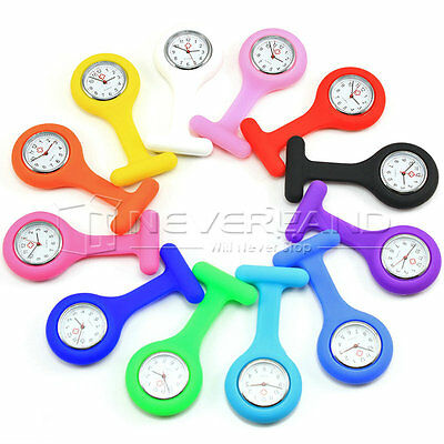 Hot Silicone Nurse Watch Quartz Fob Brooch Pendant Pocket Tunic Clip-on Watches