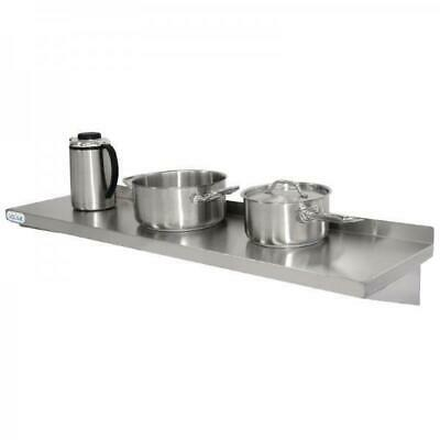 Wall Shelf 1500x300mm Stainless Steel Vogue Commercial Kitchen Cafe Restaurant