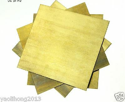 1pcs Brass Metal Sheet Plate 3mm x 100mm x 100mm