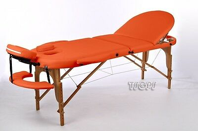 Orange Oval Portable massage Table Beauty Therapy Salon Bed Couch + Carry Bag