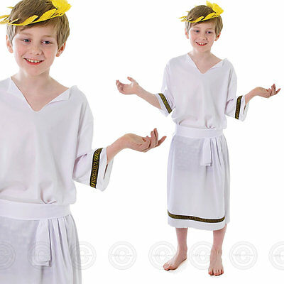 1 of 3FREE Shipping Greek Boys Fancy Dress Costume Childs Roman Spartan Toga Kids New Outfit 6 7 10  sc 1 st  PicClick UK & GREEK BOYS FANCY Dress Costume Childs Roman Spartan Toga Kids New ...