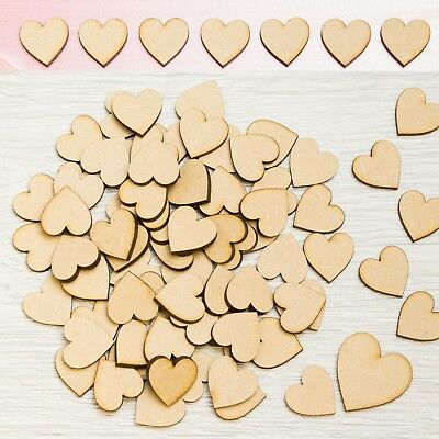 Wooden MDF Hearts Christmas Craft Shape Tags Embellishments Decoration 3mm Art