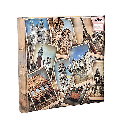 Large Vintage EuropeanTravel Memo Photo Album for 200 Photos 4' x 6'- FB200