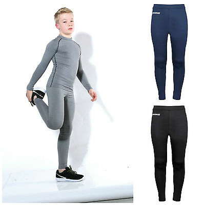 Childrens Boys Girls Base Layer Trousers Sports Tights Cycling Performance Kids
