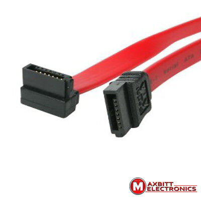 "High Quality SATA Cable 50CM 19"" Right Angle - Straight"