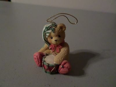 2015 Cherished Teddies Annual Dated Ornament Ready for Reindeer Games 4047383