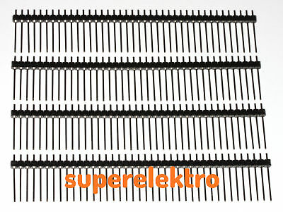 4x 40 Pin Stiftleiste, LANGBEINIG, RM 2,54mm, Pinheader, Pin Header, 14mm