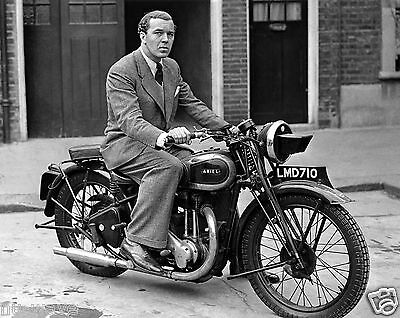 1943 Photo of Sweden Prince Bertil on a Motorcycle in London World War 2