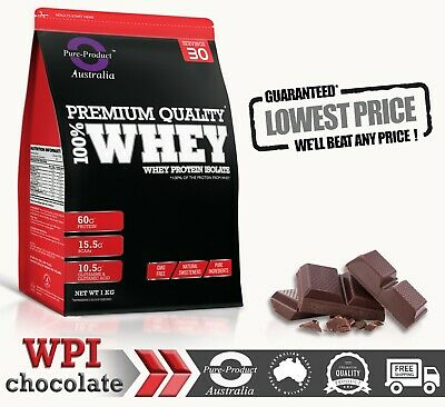 3Kg Whey Protein Isolate Powder  Wpi  100% Pure - Chocolate