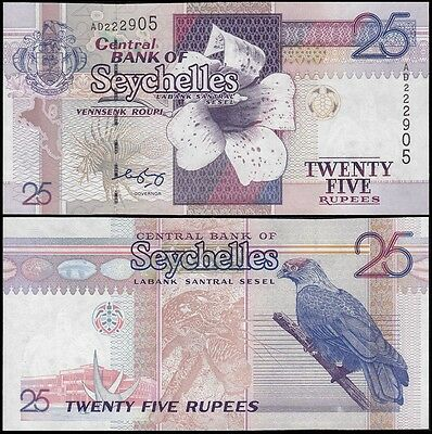 Seychelles 25 Rupees Banknote, ND 1998 - 2008, P-37b, UNC
