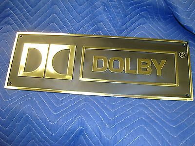 DOLBY Sign for Theater AND Home Theaters ~ Plastic