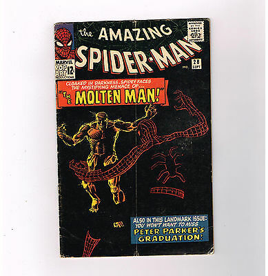 AMAZING SPIDER-MAN (v1) #28  Silver Age! 1st MOLTEN MAN appearance!