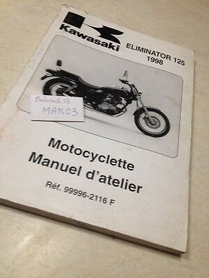Kawasaki Eliminator 125 98 BN125 A1 manuel atelier workshop service manual éd97