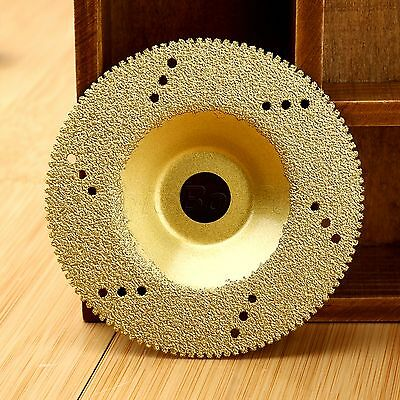 100mm Diamond Coated Cutting Grinding Disc Saw Blade Cut Off Wheel DIY Tool Gold