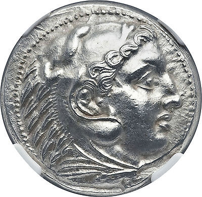 MACEDONIAN KINGDOM. Alexander III the Great (336-323 BC). AR tetradrachm NGC CER
