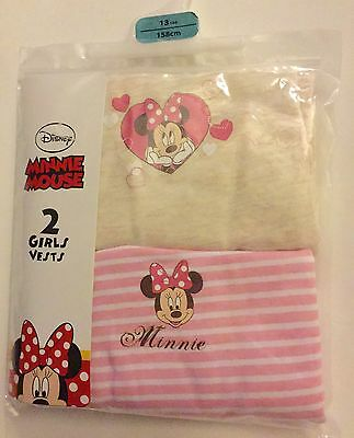 Girls 2 pack Disney Minnie Mouse Cami Vests