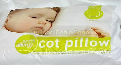 New Anti Allergy Baby Nursery Toddler Junior Cot Bed PILLOW ONLY