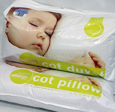 4.5 Tog  Anti Allergy Baby Nursery Toddler Junior Cot Bed Duvet Quilt + PILLOW
