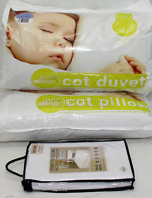 4.5T Anti Allergy Baby Nursery  Cot Bed Duvet +Pillow + Waterproof Matress Cover