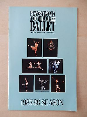 1987-1988 - Shubert Theatre Playbill - Pennsylvania and Milwukee Ballet