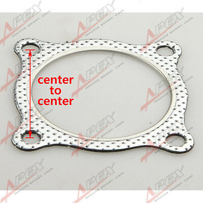 "3"" 4-Bolt High Temp Exhaust Gasket Turbo/Manifold/Header Down/Dump Pipe Flange"