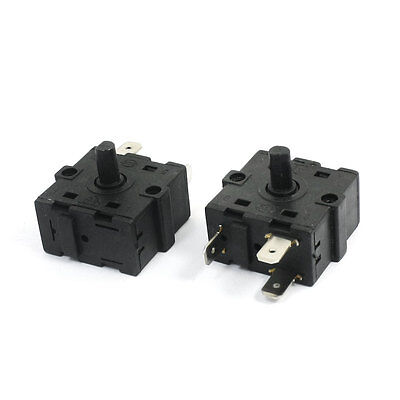 2Pcs AC250V 10A 3Pin 3Position Rotary Switch Selector for Electric Room Heater