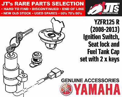 Yamaha Yzfr125 / Yzf-R125 (08-13) Genuine Ignition Switch & Cap & Lock Set New