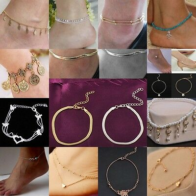 Woman Fashion Anklet Boho Beads Anklets Bracelet Foot Chain Beach Jewelry Unique