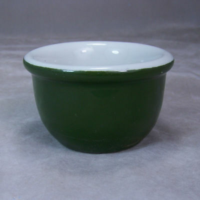 Vintage Hall China Forest Green #355 Custard Cup Bowl USA Marked