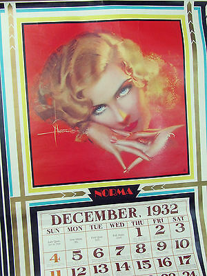 """Vintage ROLF ARMSTRONG pin up GIRL calendar art FLAPPER Fuel Co Advertising 27"""""""