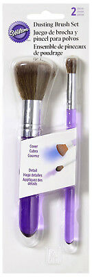 Wilton Dusting Brush Set For Color & Pearl Dust Large for Cover Small for Detail