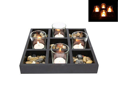 4 Pc Zen Candle Set | Gift Idea | Feng Shui For Your Home | Tealight Holder