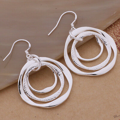 fashion lady 925 nice Silver jewelry trend women Charms earring jewelry AE542