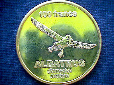 Crozet Islands French Southern & Antartic Lands 2011 100 Francs Coin, Albatros